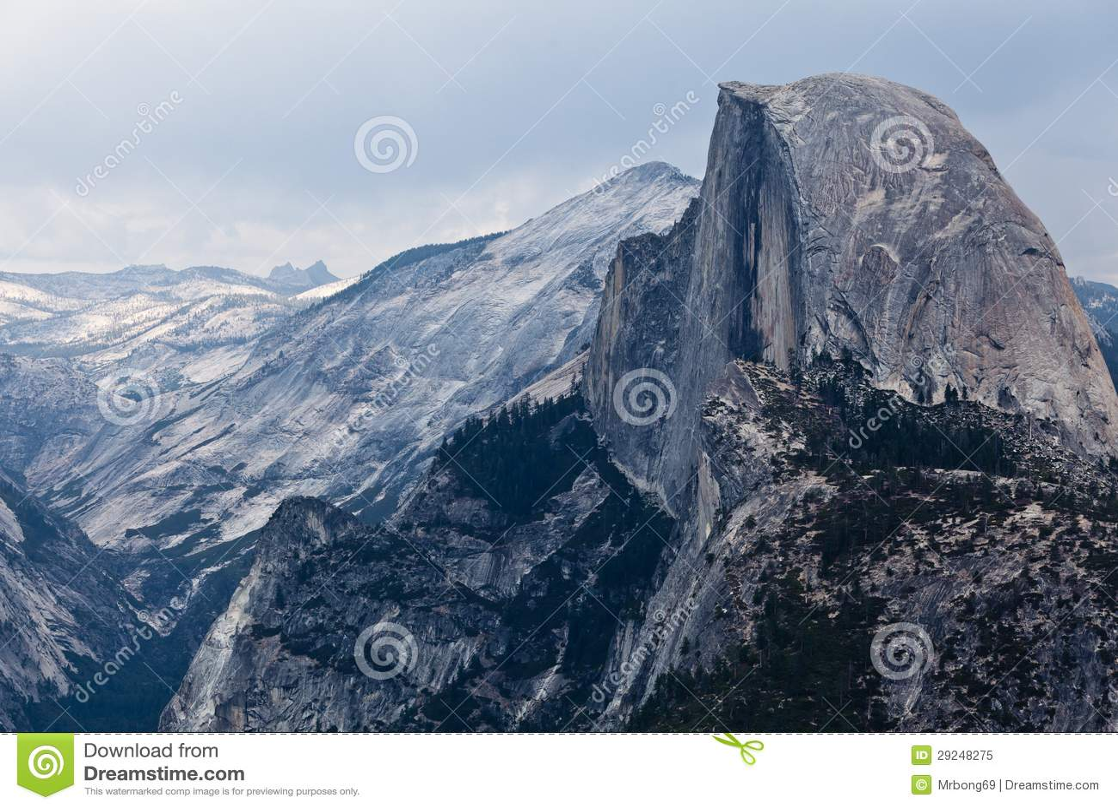 Download Meia Abóbada - Parque Nacional De Yosemite Imagem de Stock - Imagem de panorama, scenic: 29248275