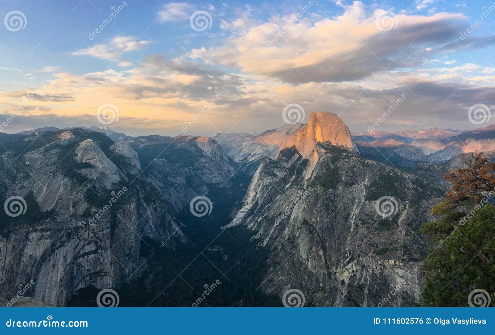 Meia abóbada Vista do ponto da geleira, Yosemite