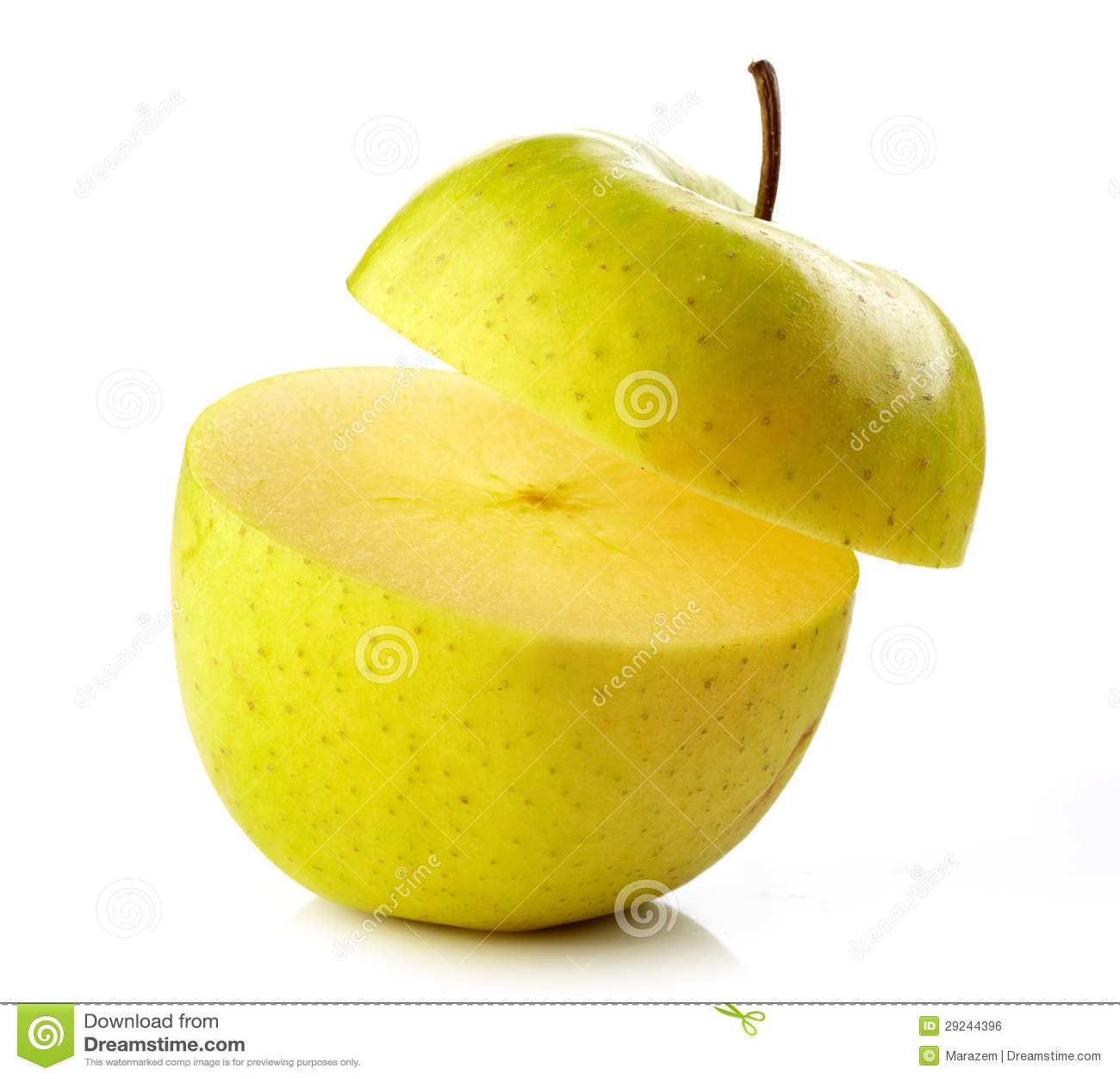 Download Meia maçã foto de stock. Imagem de lustroso, naughty - 29244396