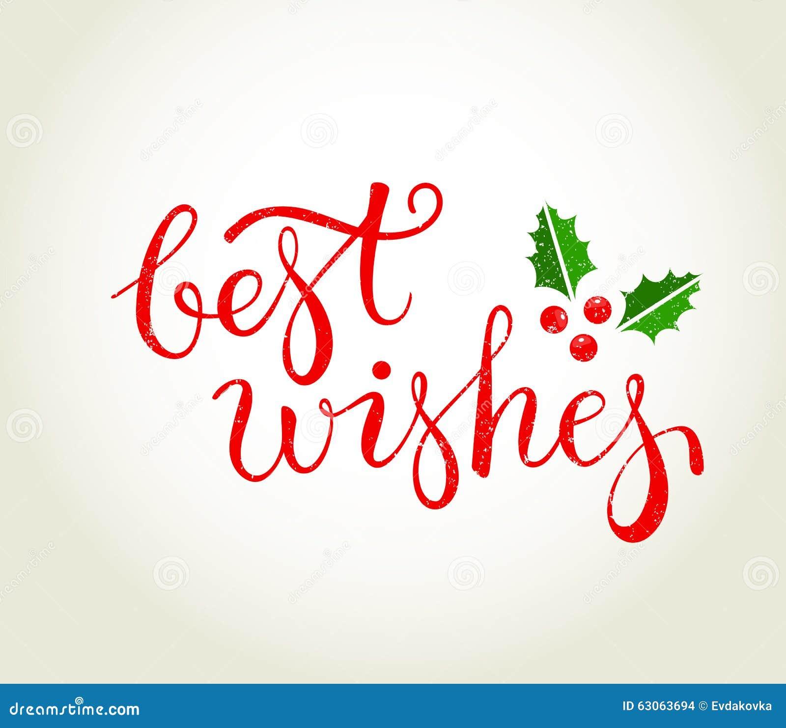 Meilleurs Voeux Texte Avec Des Feuilles De Houx Noël