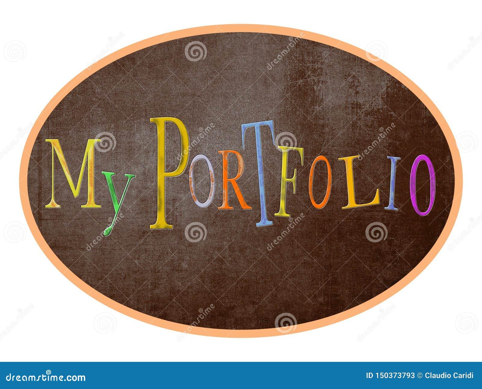Mein Portfolio, beschriftend für Blog, Geschäft, Fahnen