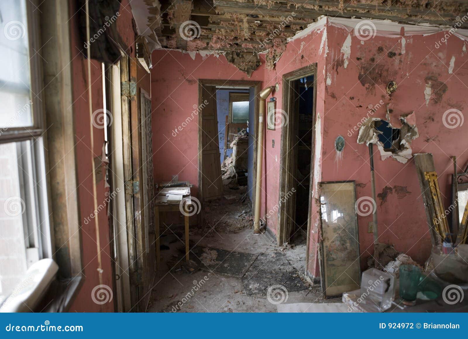 Mein Wohnzimmer   New Orleans Nach Katrina. Stockfotografie   Bild