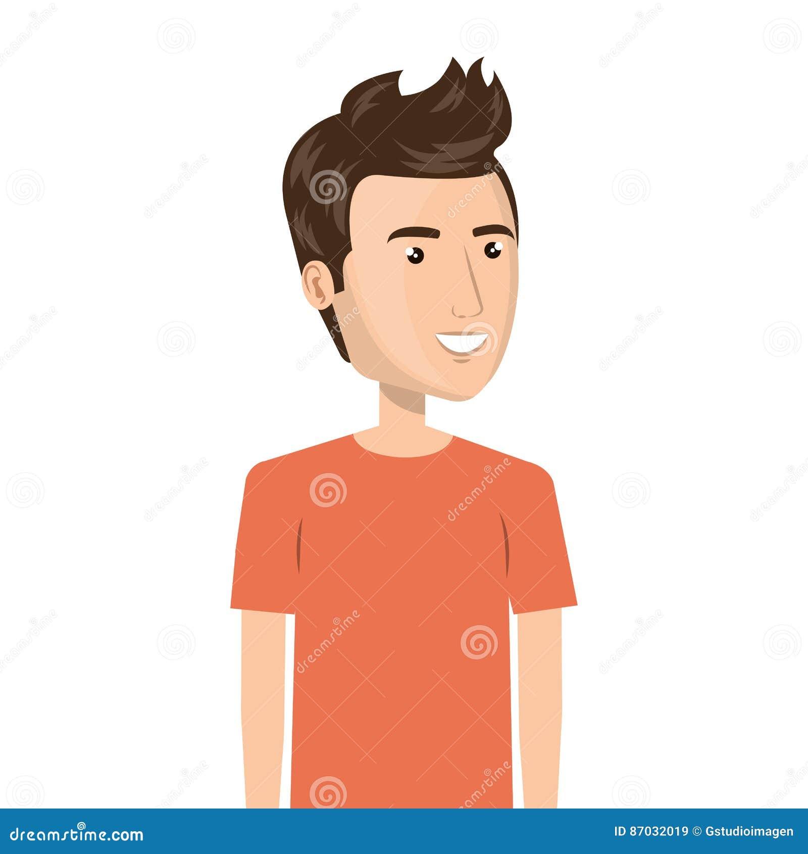 Meio Homem Dos Desenhos Animados Do Corpo No Terno Ocasional