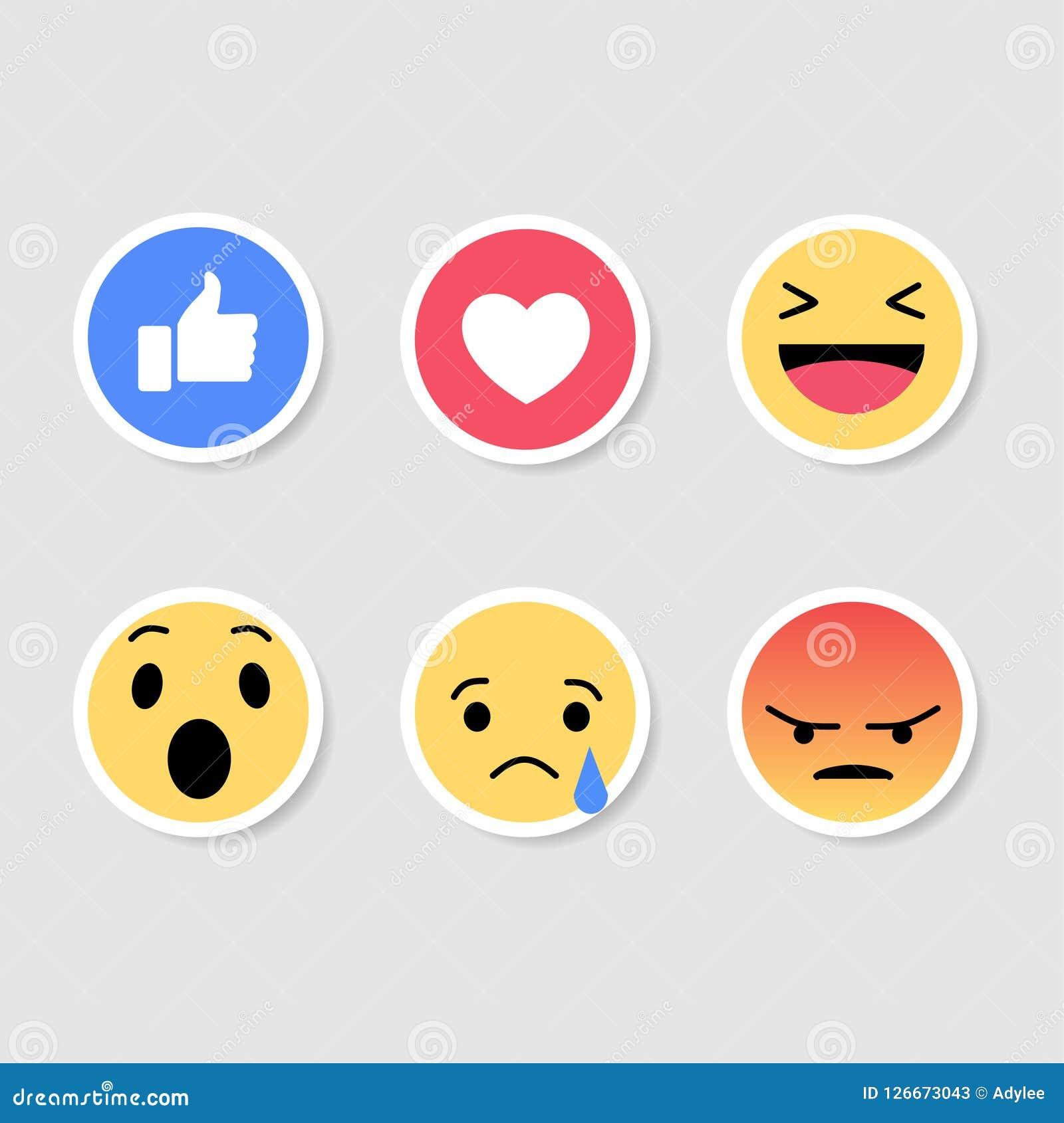 Meios conservados em estoque do social do emoticon da etiqueta do vetor