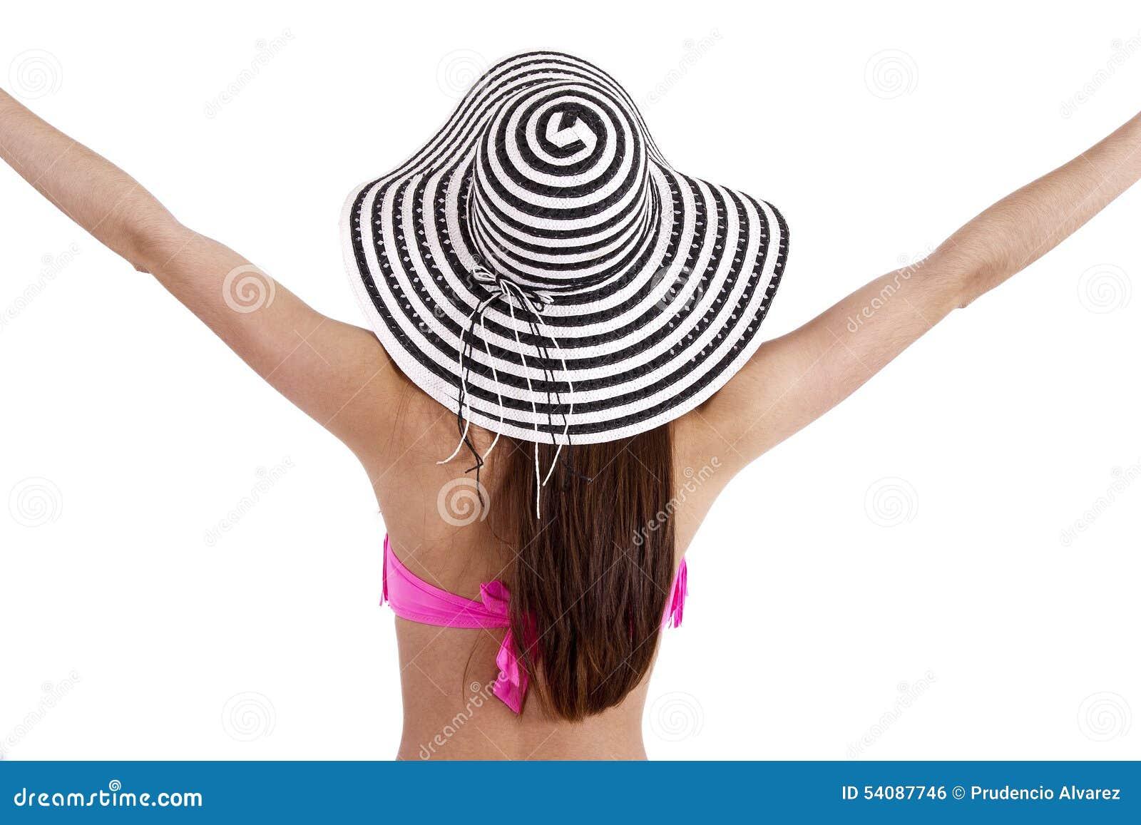 Meisje in bikini, de zomer