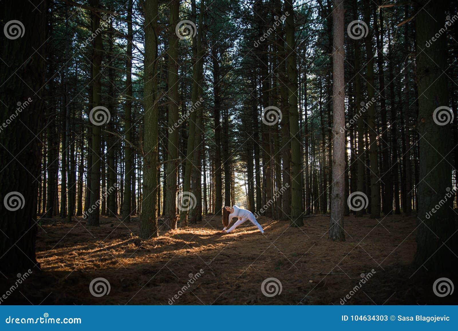 Download Meisje dat yoga doet stock afbeelding. Afbeelding bestaande uit meditatie - 104634303