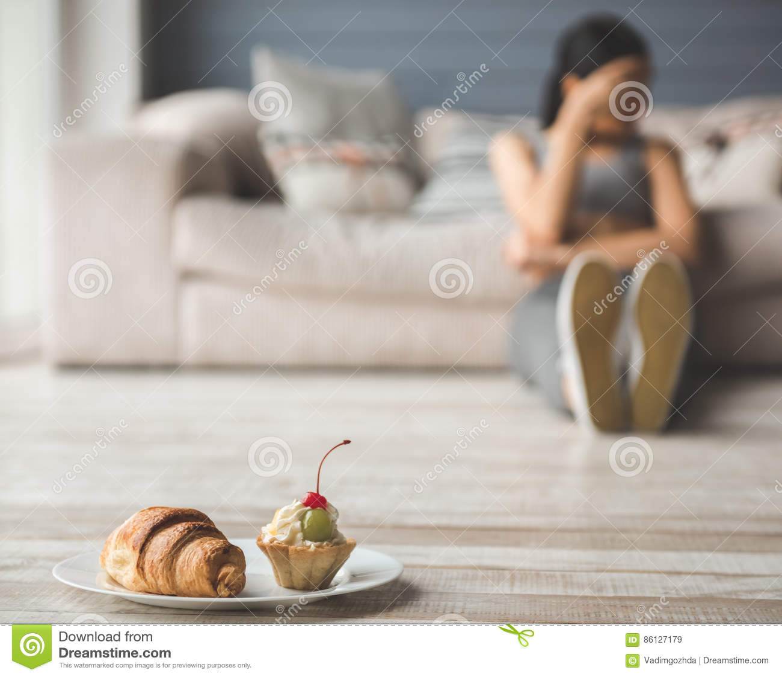 Meisje die dieet houden