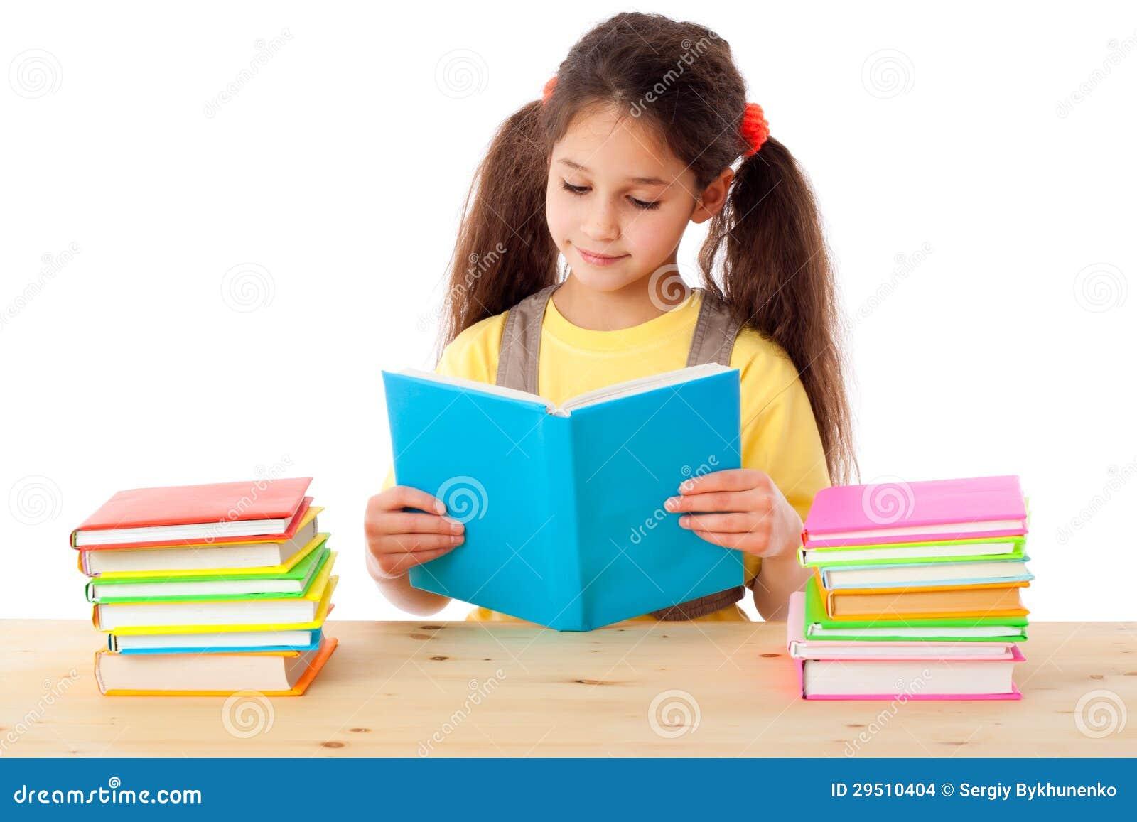 Meisje die het boek lezen