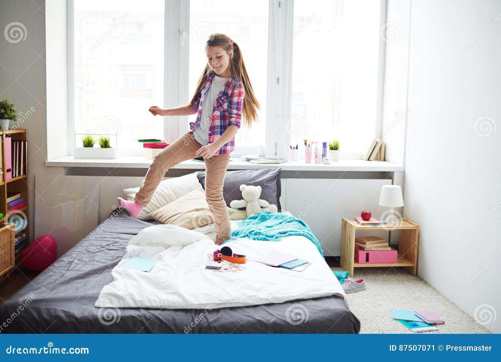 Dansen op bed