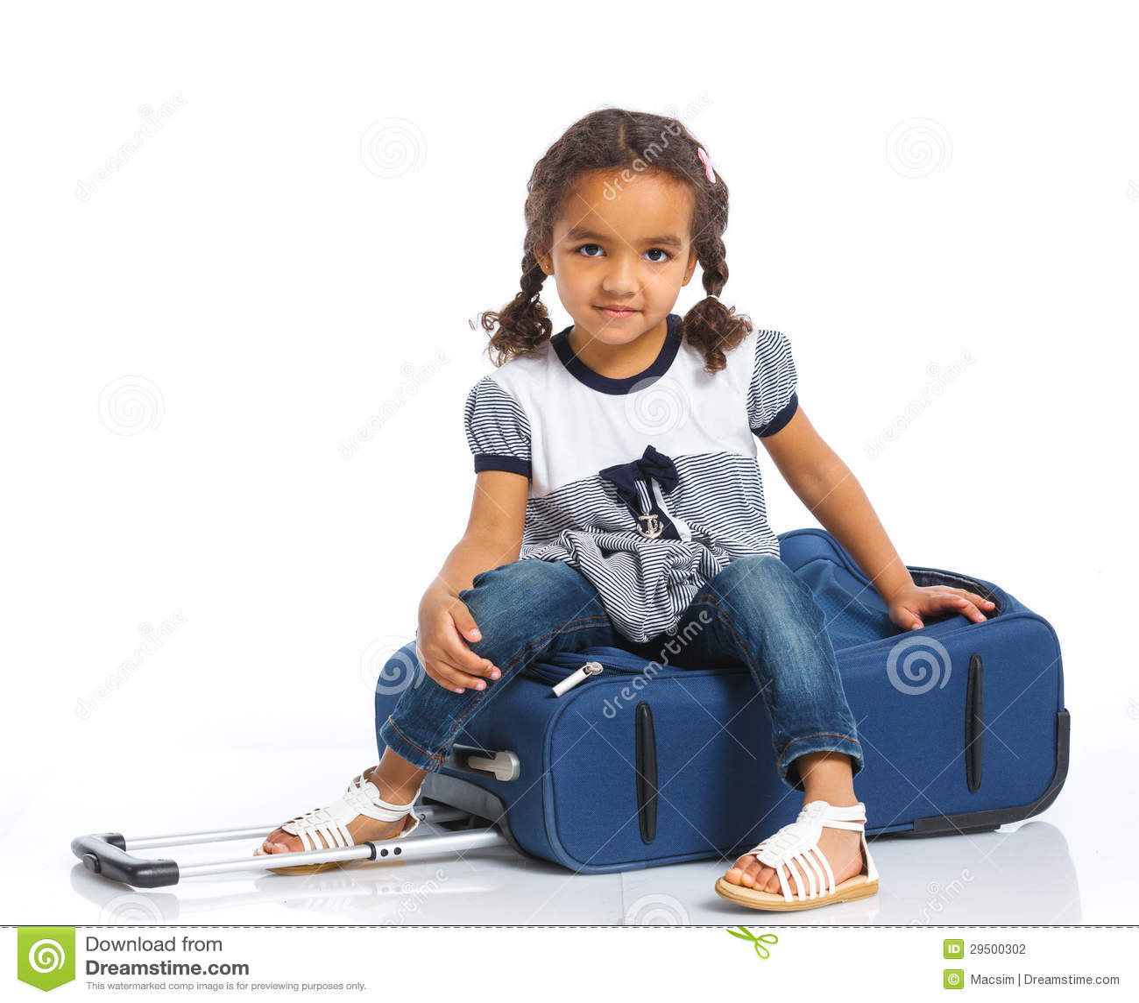 Meisje die op Vakantie gaan