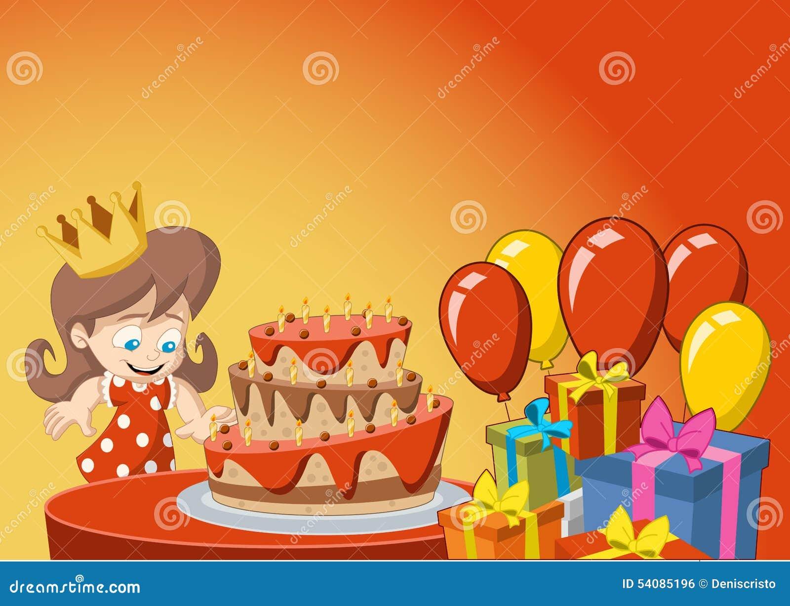 Meisje die pret hebben bij verjaardagspartij