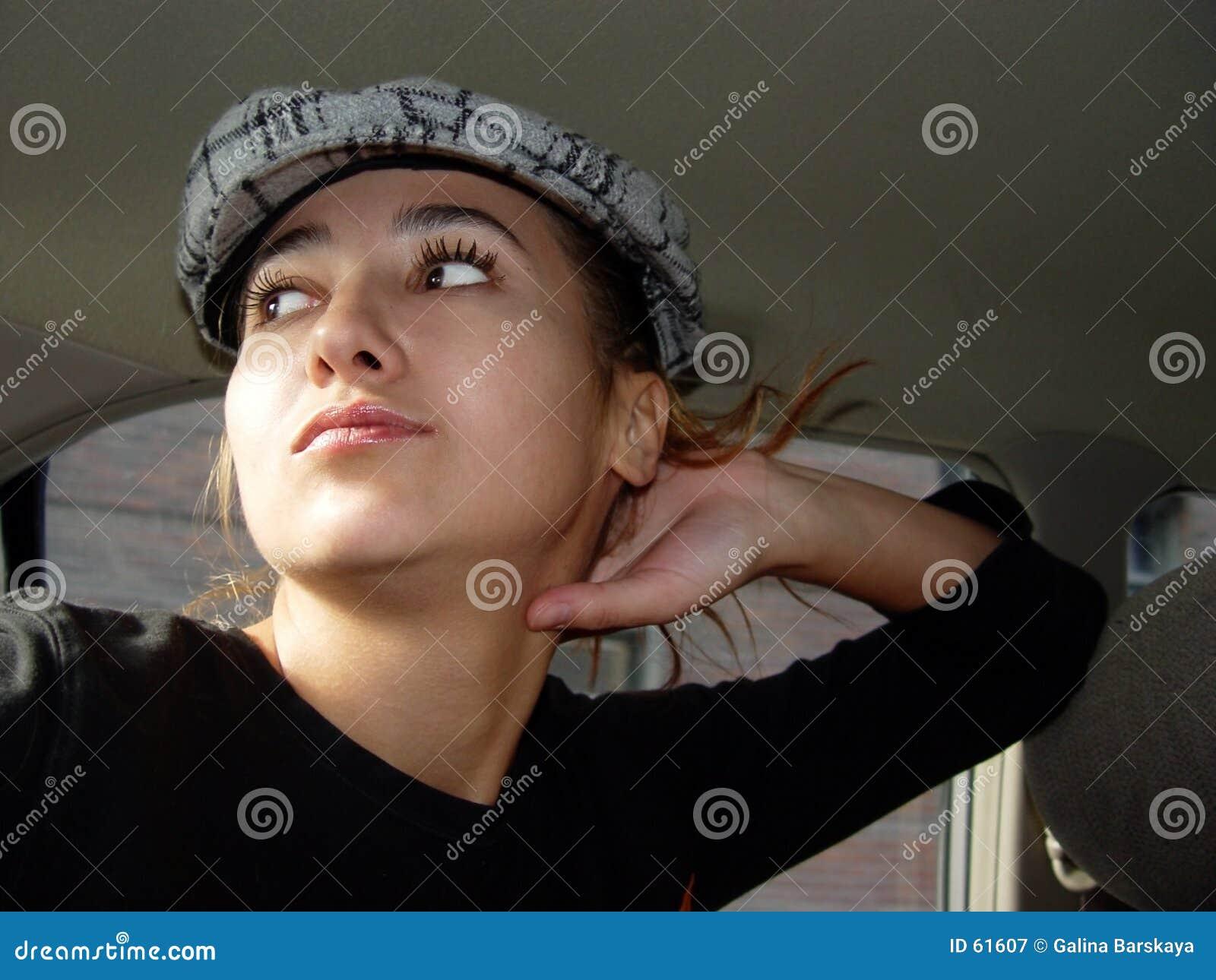 Meisje in een auto