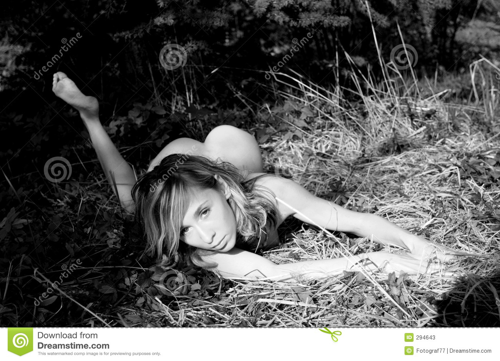 Meisje in een hout