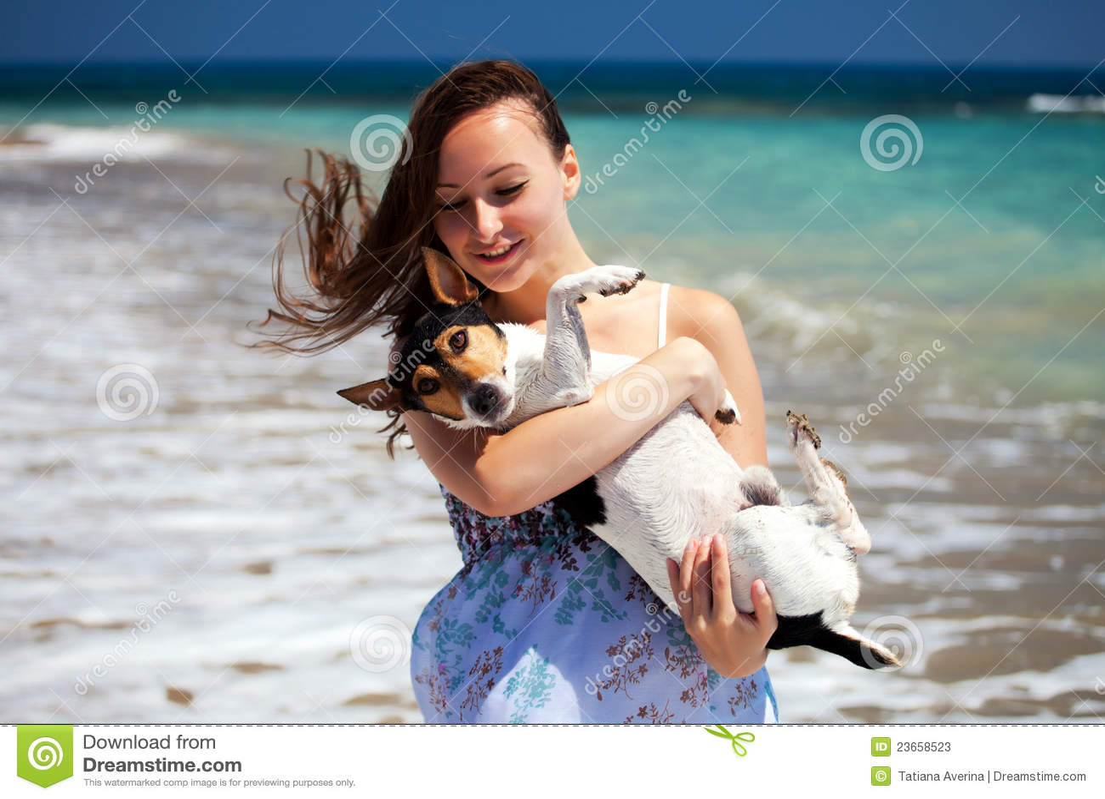 Meisje en de hond