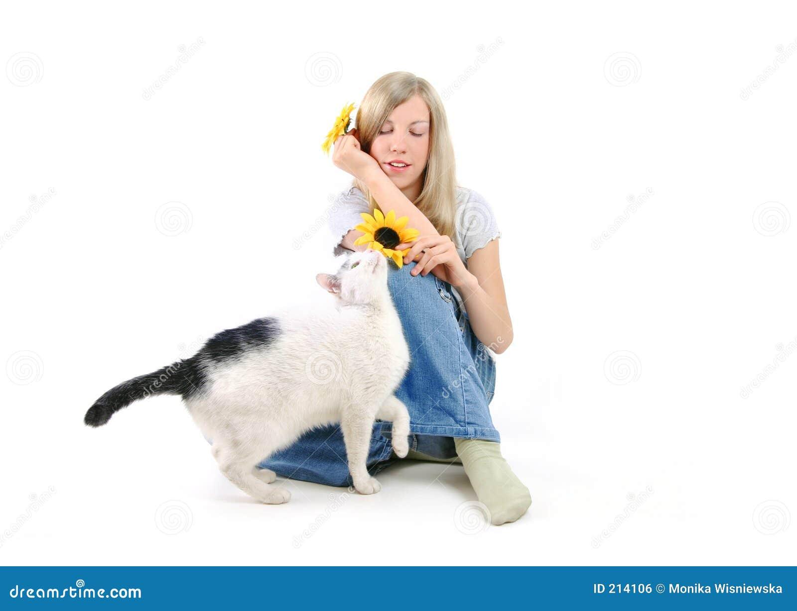 Meisje en een Kat