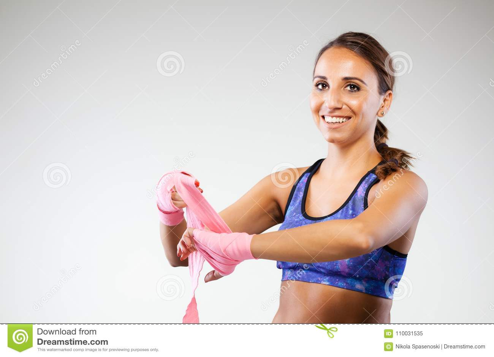Meisje kickboxer