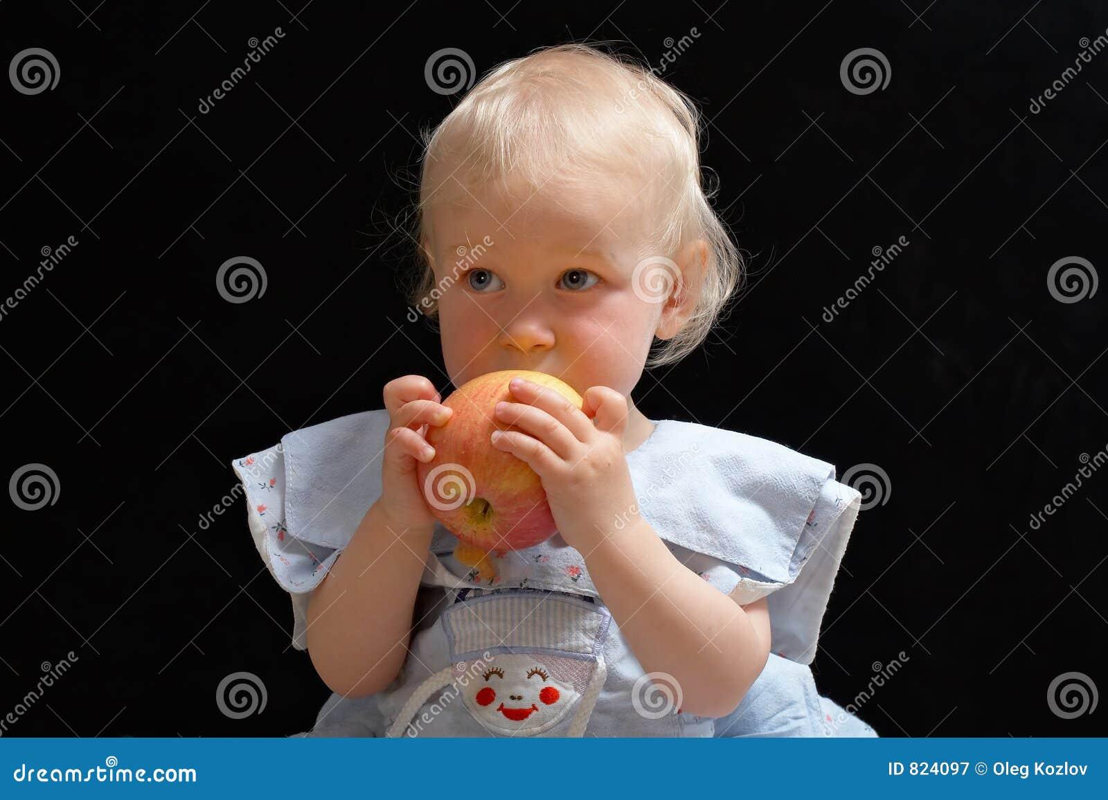 Meisje met appel