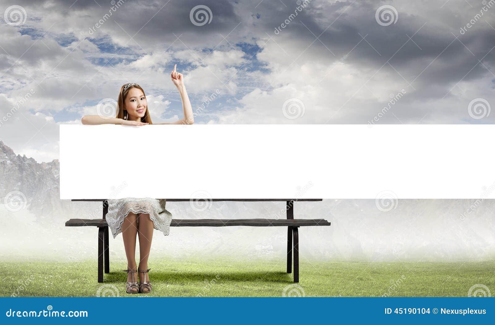 Meisje met banner