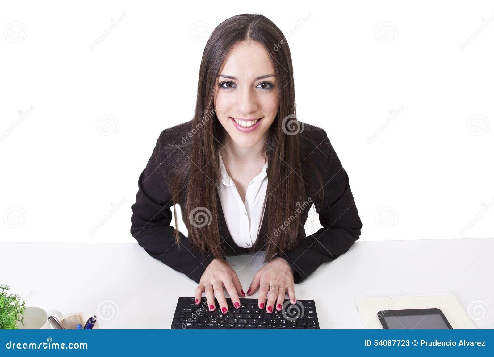 Meisje met Computer