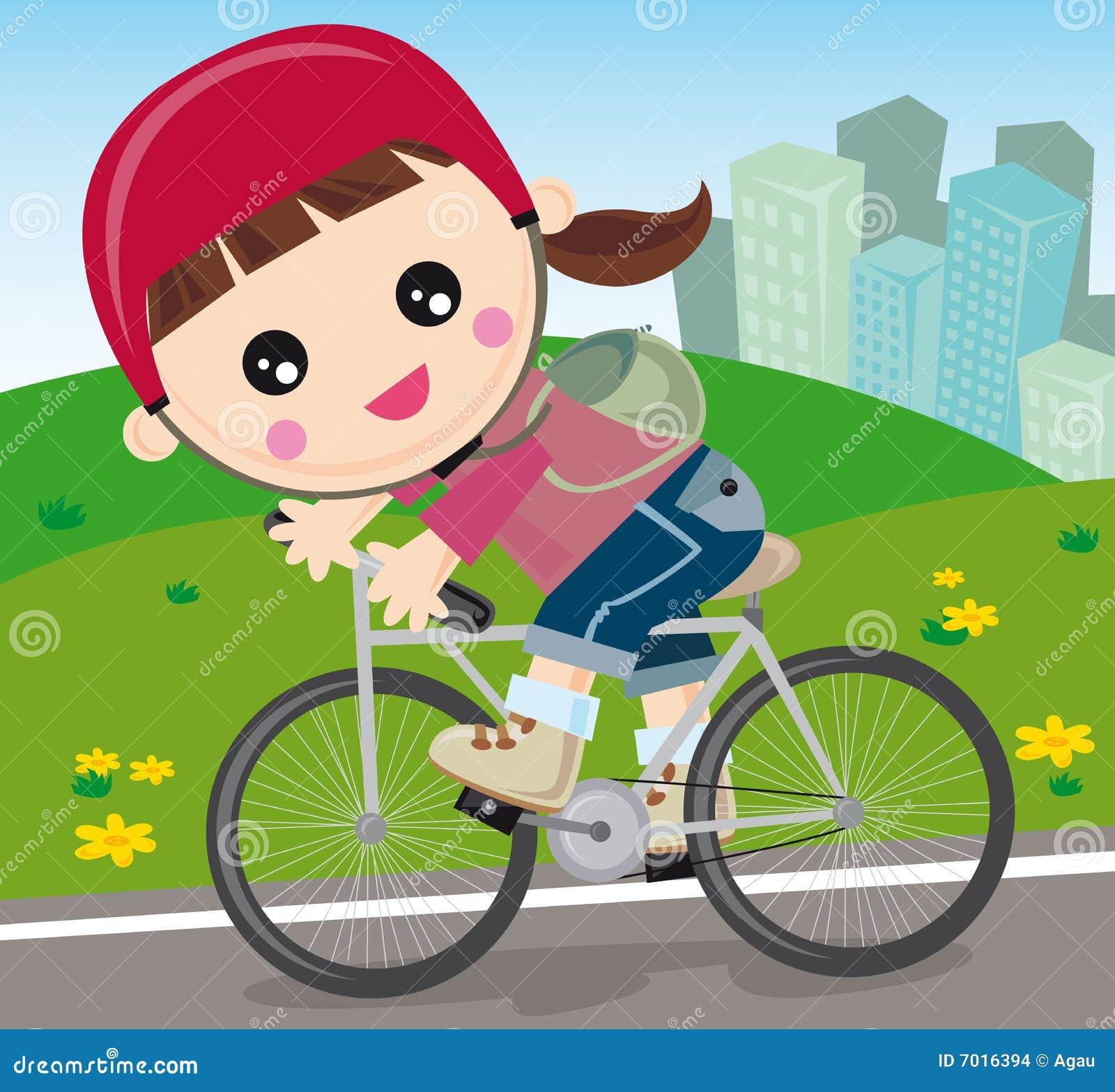 Meisje met fiets