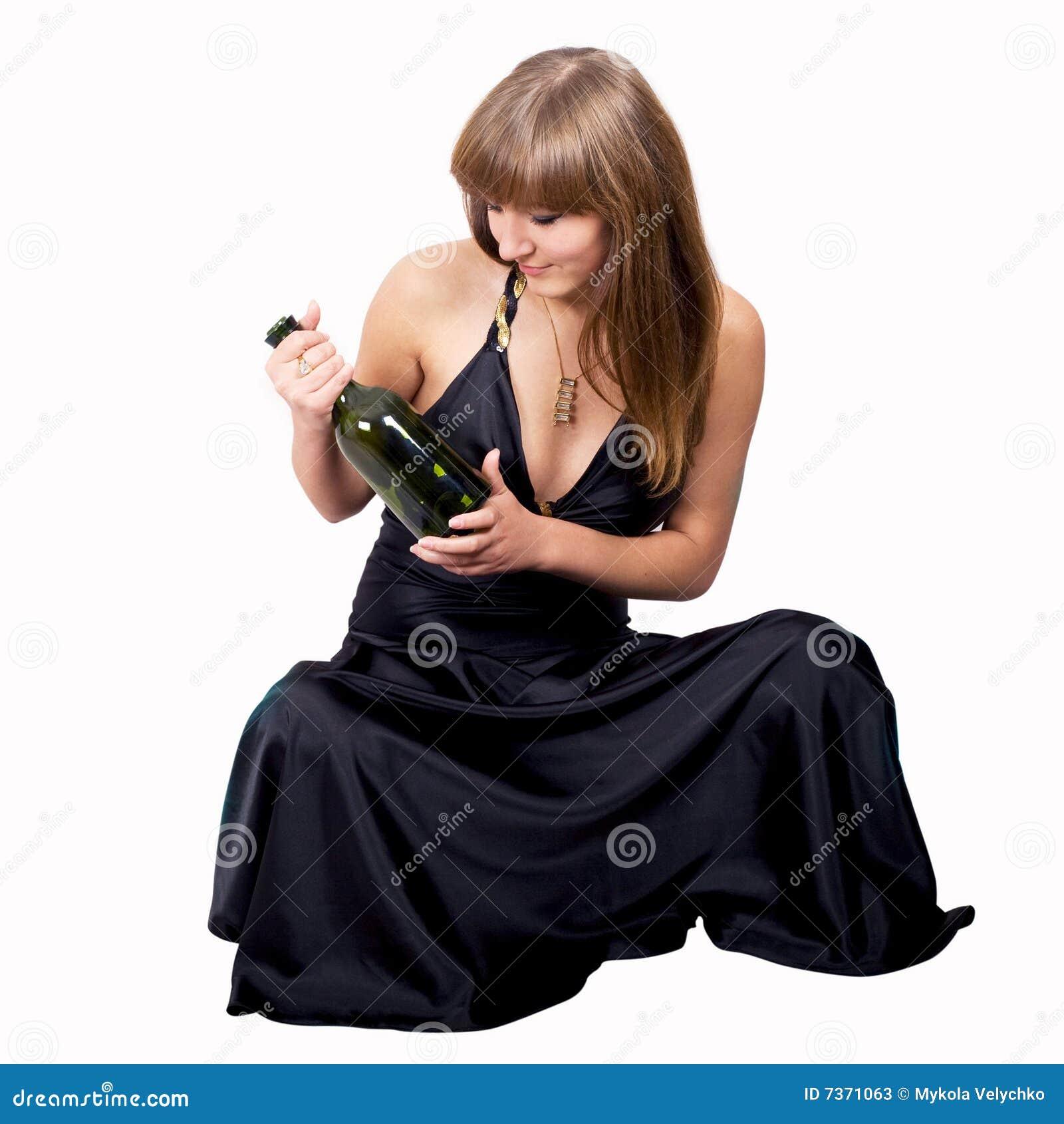 Meisje met fles