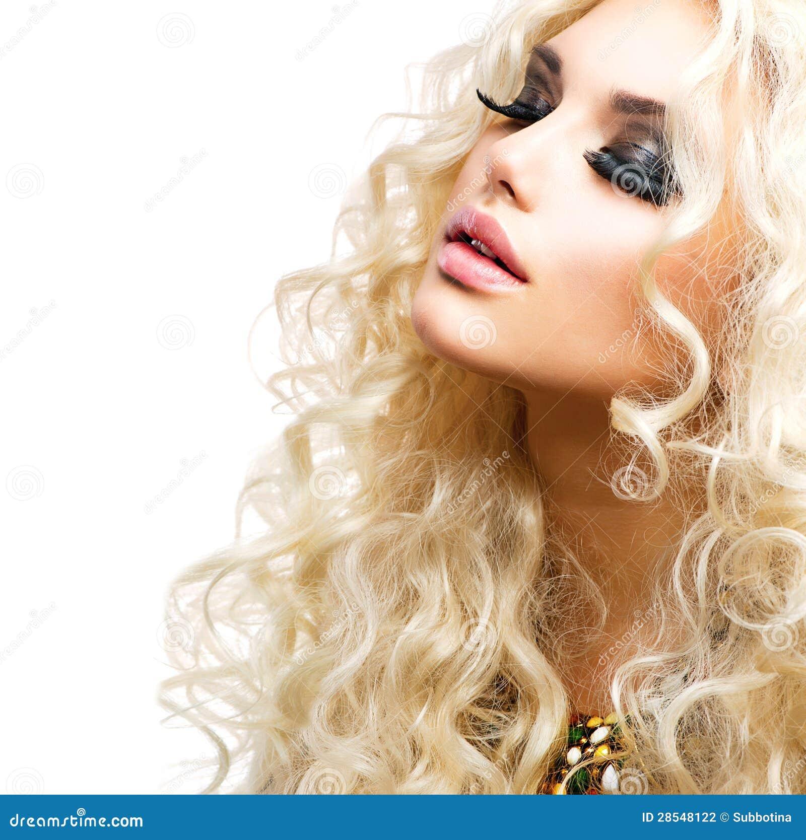 Meisje met Krullend Blond Haar