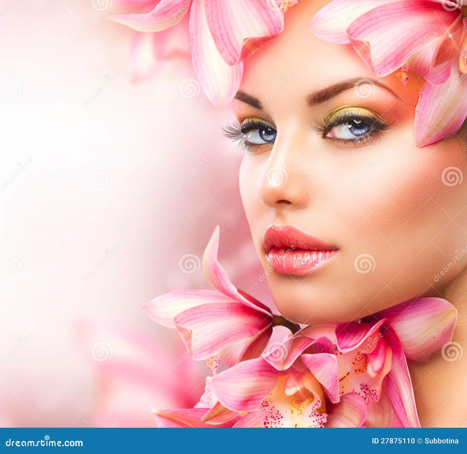 Meisje met Orchidee