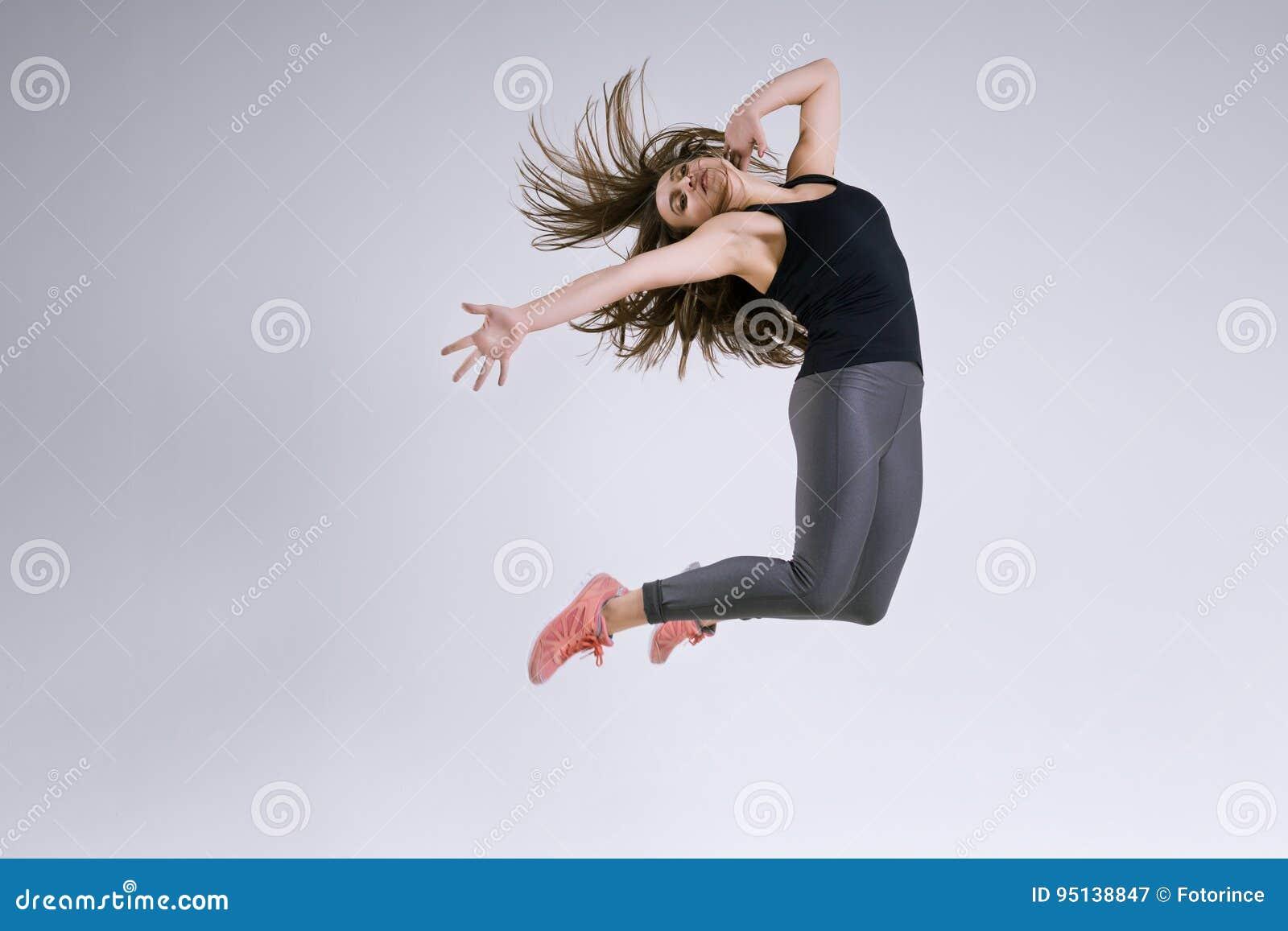 Meisje in sprong