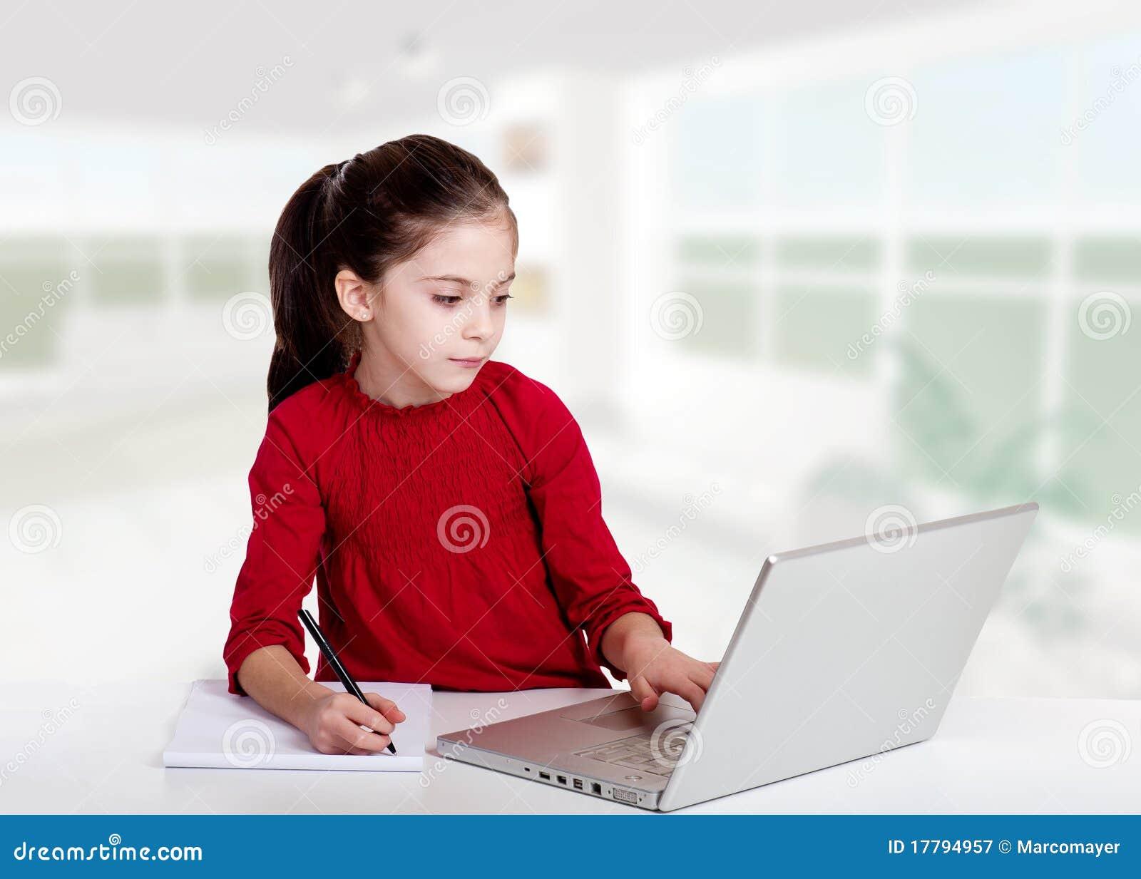Meisje studyng