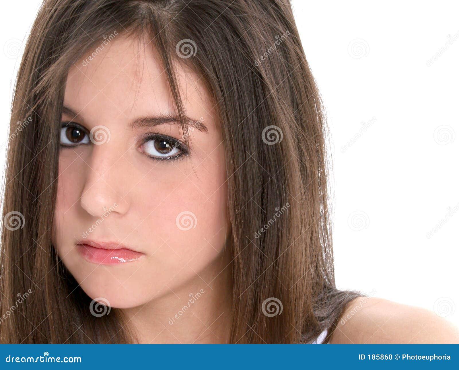 Meisje van de tiener van de close up het droevige stock foto afbeelding 185860 - Ruimtekleur tiener meisje ...