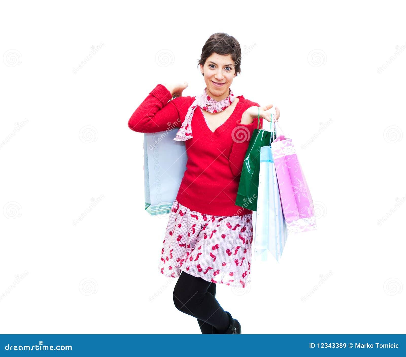 Meisjes en het winkelen
