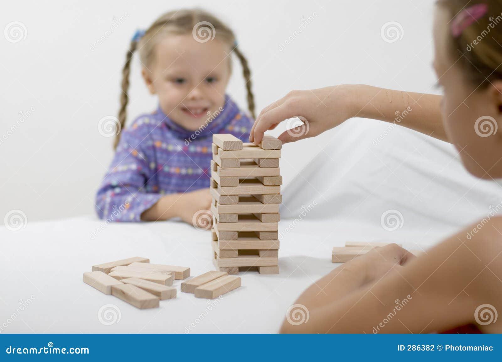 Meisjes/spel/wit