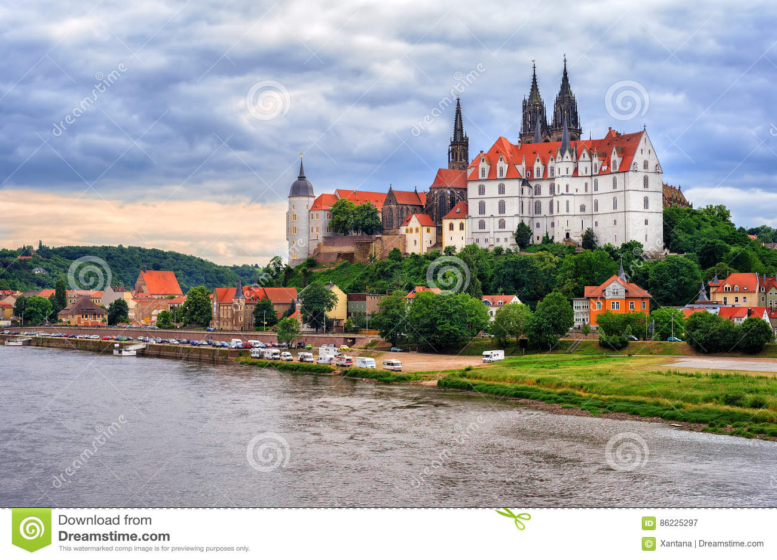 Meissen oude stad met kasteel en kathedraal, Duitsland