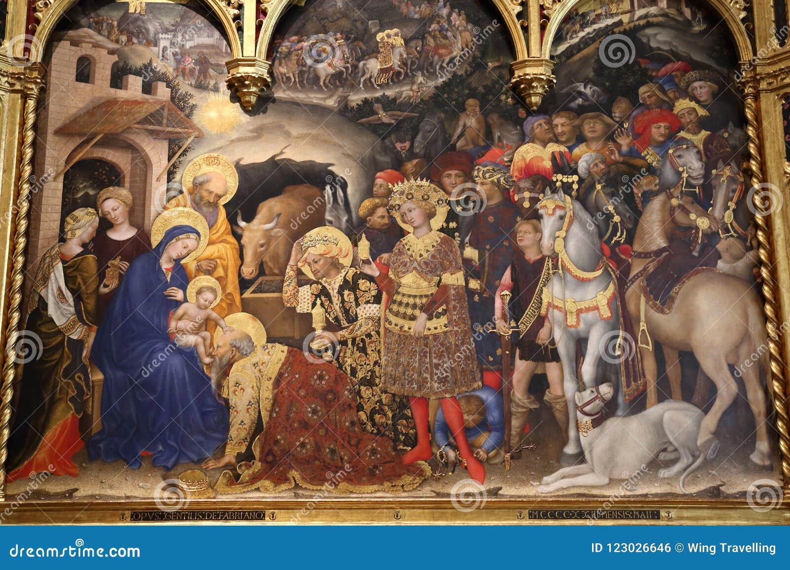 Meisterwerke in Uffizi-Galerie, Florenz, Italien