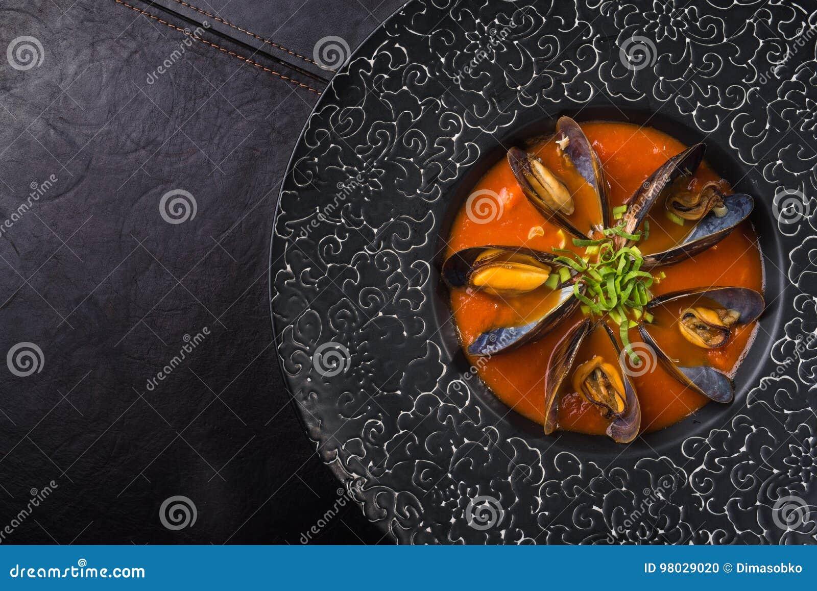 Mejillón delicioso de los mariscos