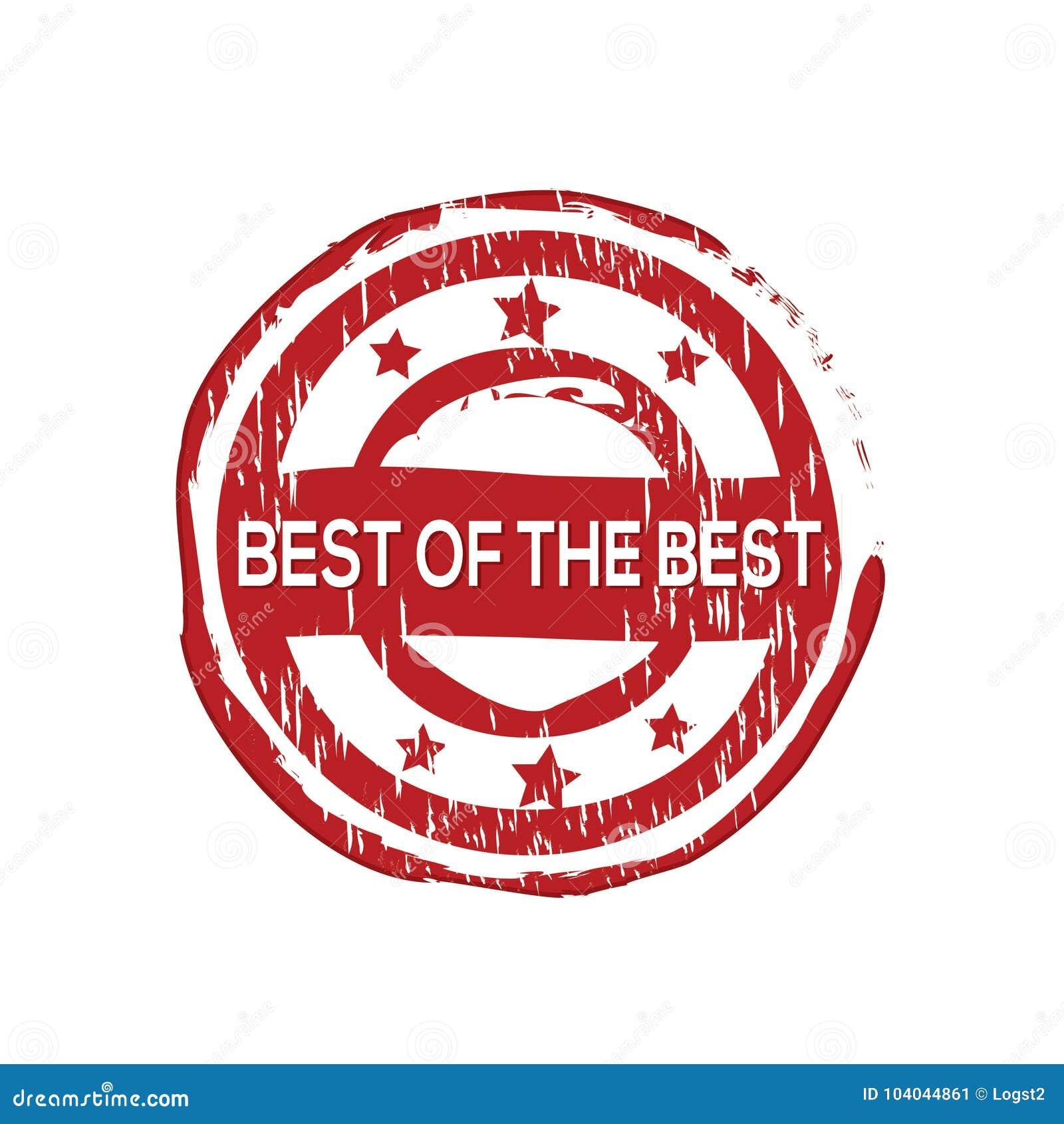 Mejor del ` del mejor sello de goma del vector del `