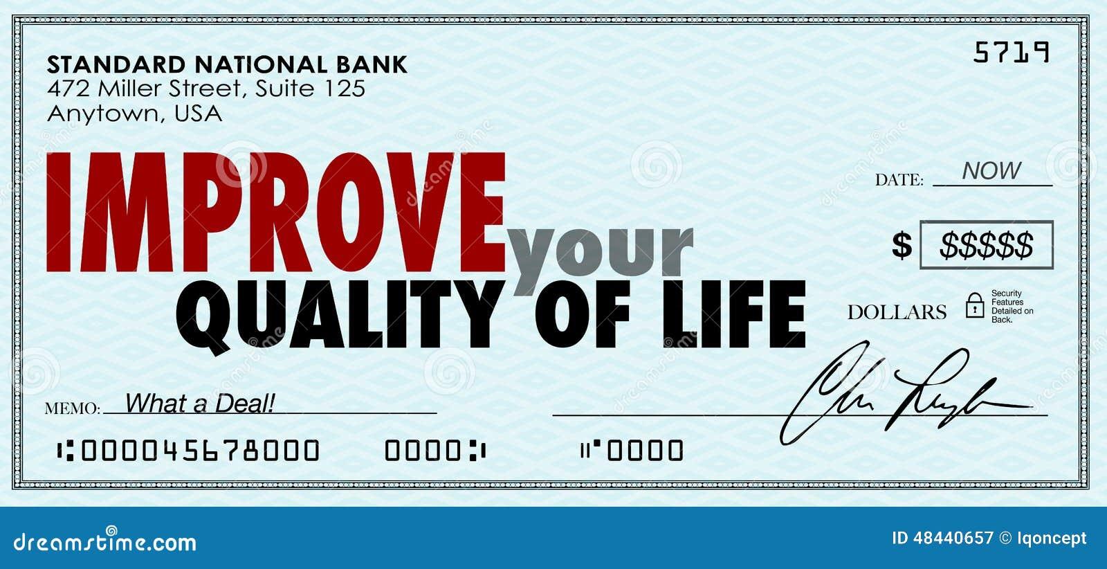 Mejore su control del dinero de la calidad de vida pasan disfrutan de renta