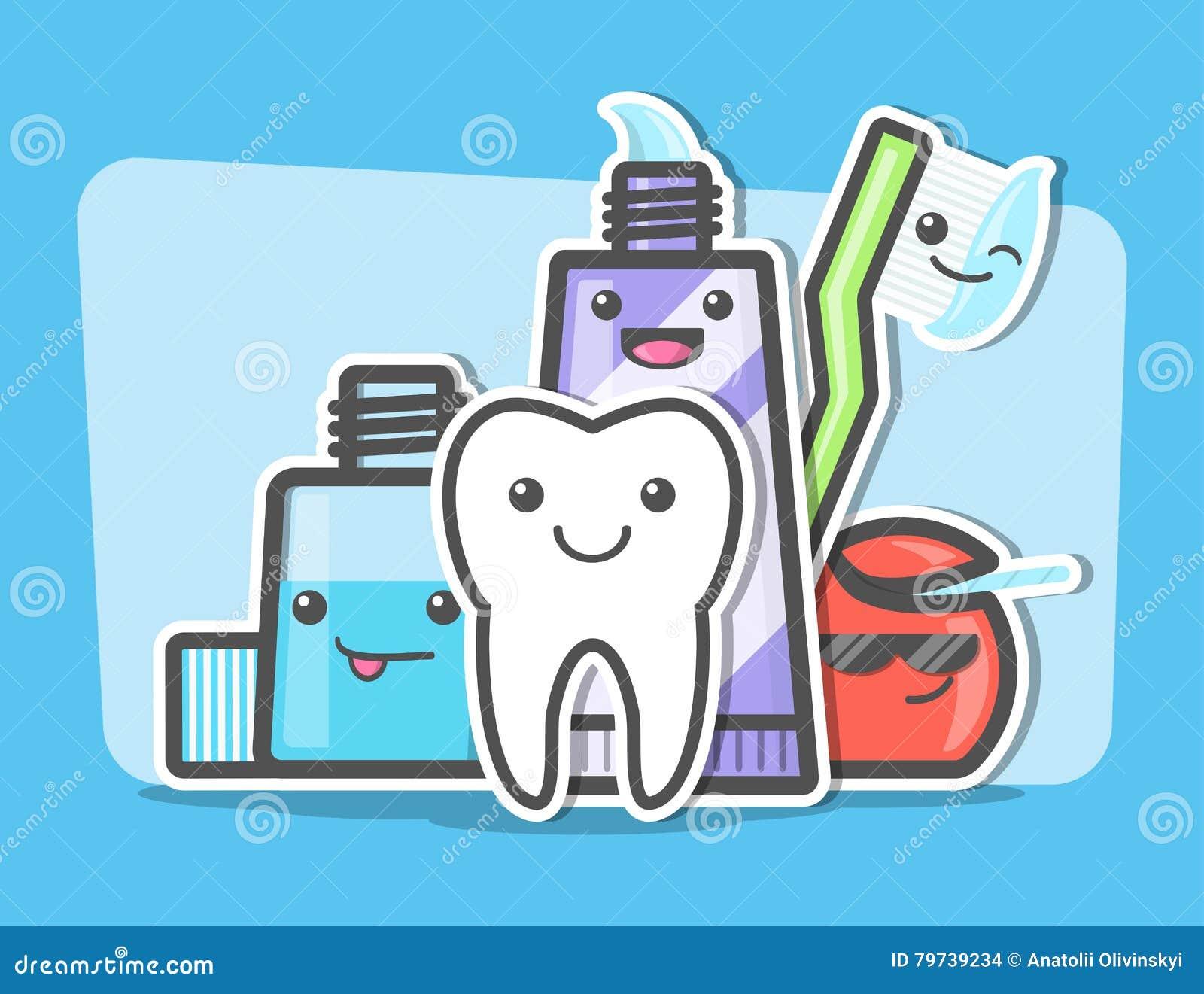 Mejores amigos de dientes sanos