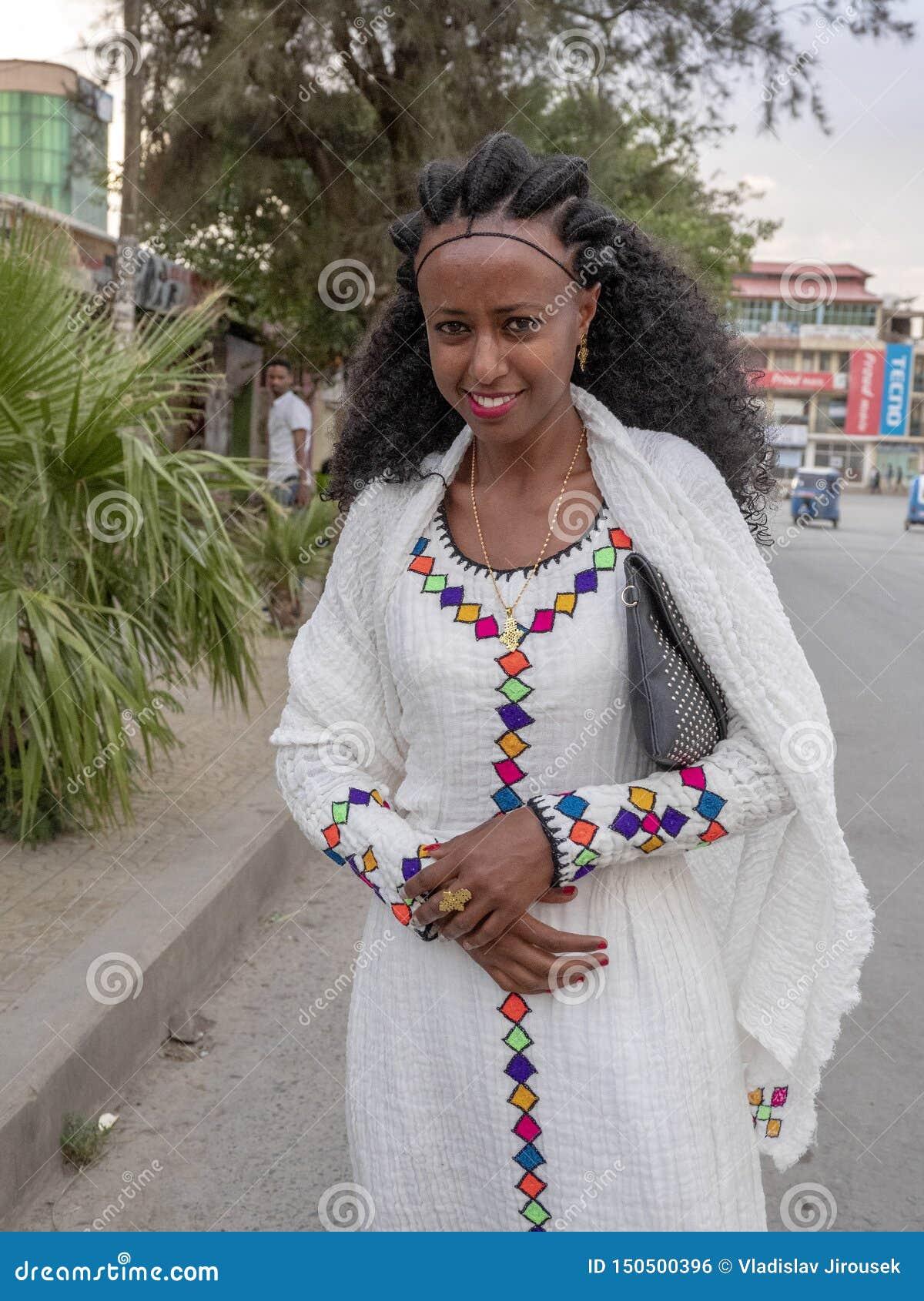 Meknes Ethiopia April 28th 2019 Ethiopian Women In The