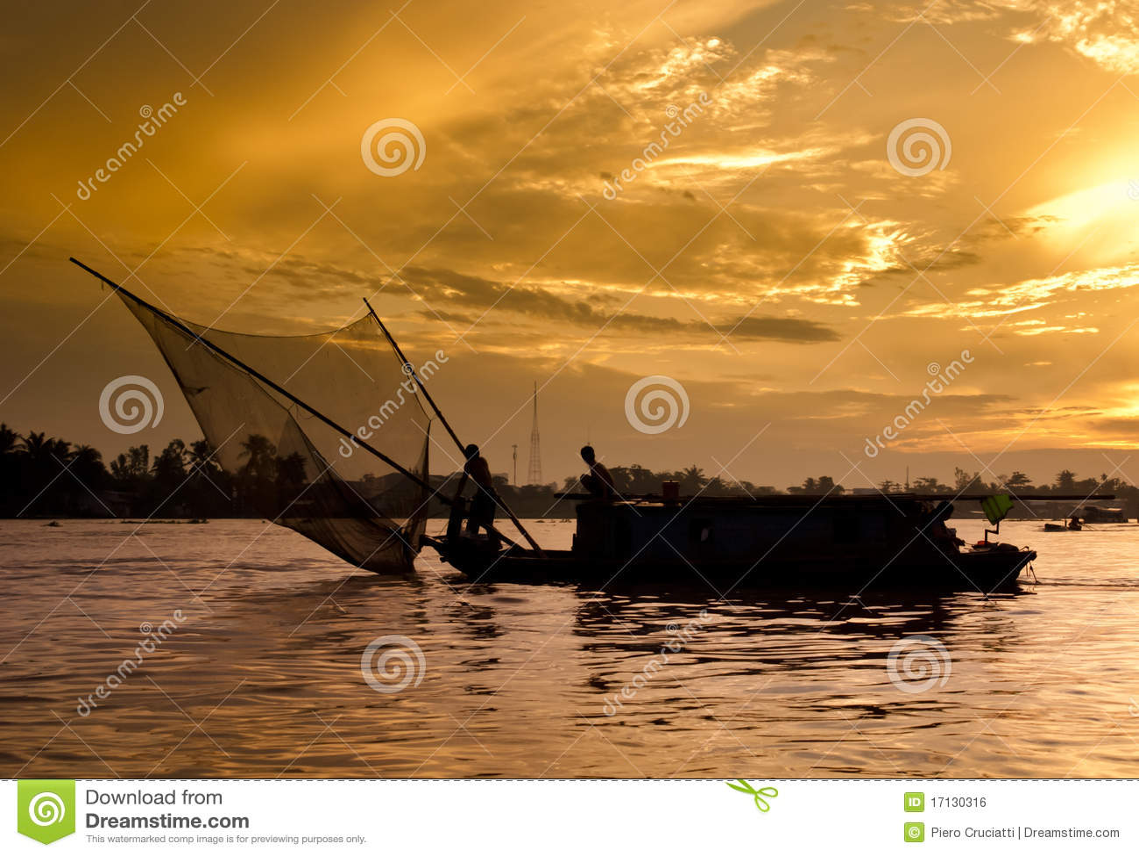 Mekong ανατολή ποταμών