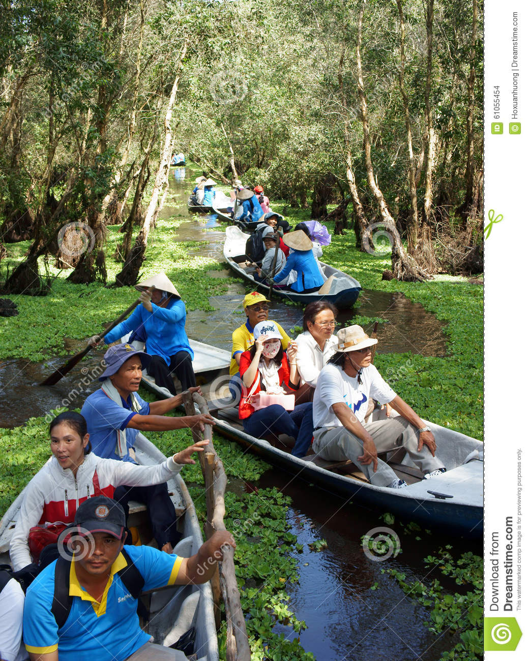 Chau Doc (An Giang) Vietnam  City new picture : AN GIANG, VIET NAM OCT 17: Group of traveler traveling nature ...