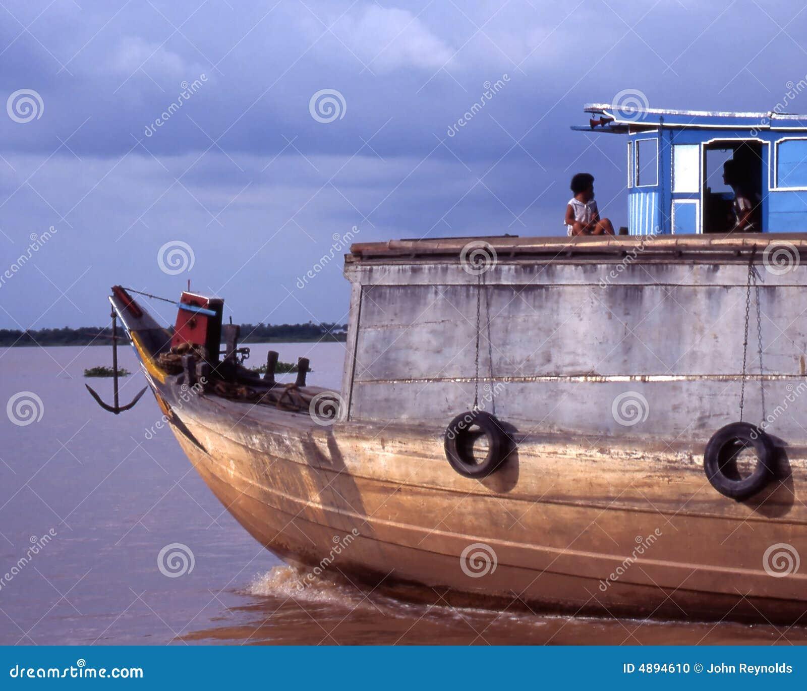 Mekong vietnames łodzi