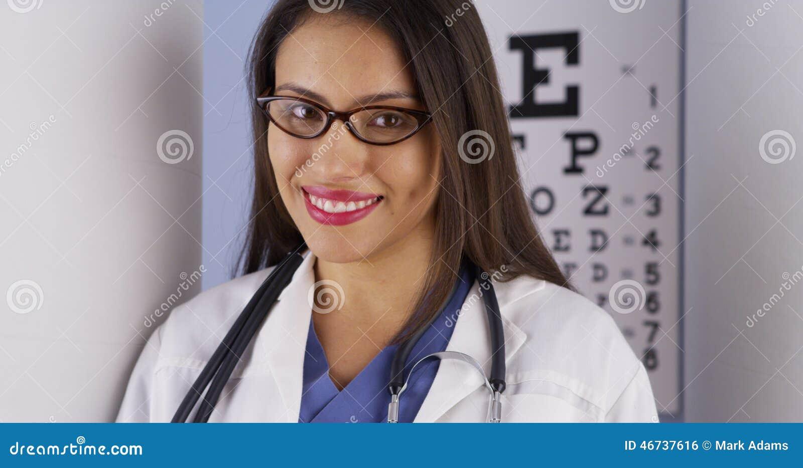 Meksykańska optometrist pozycja w biurze