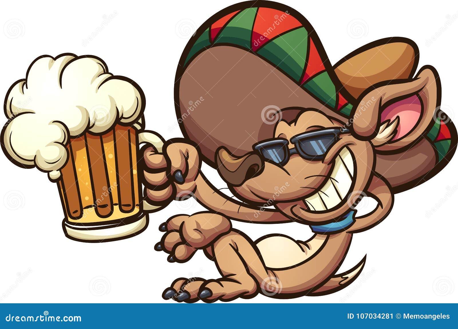 Meksykański chihuahua trzyma piwnego kubek
