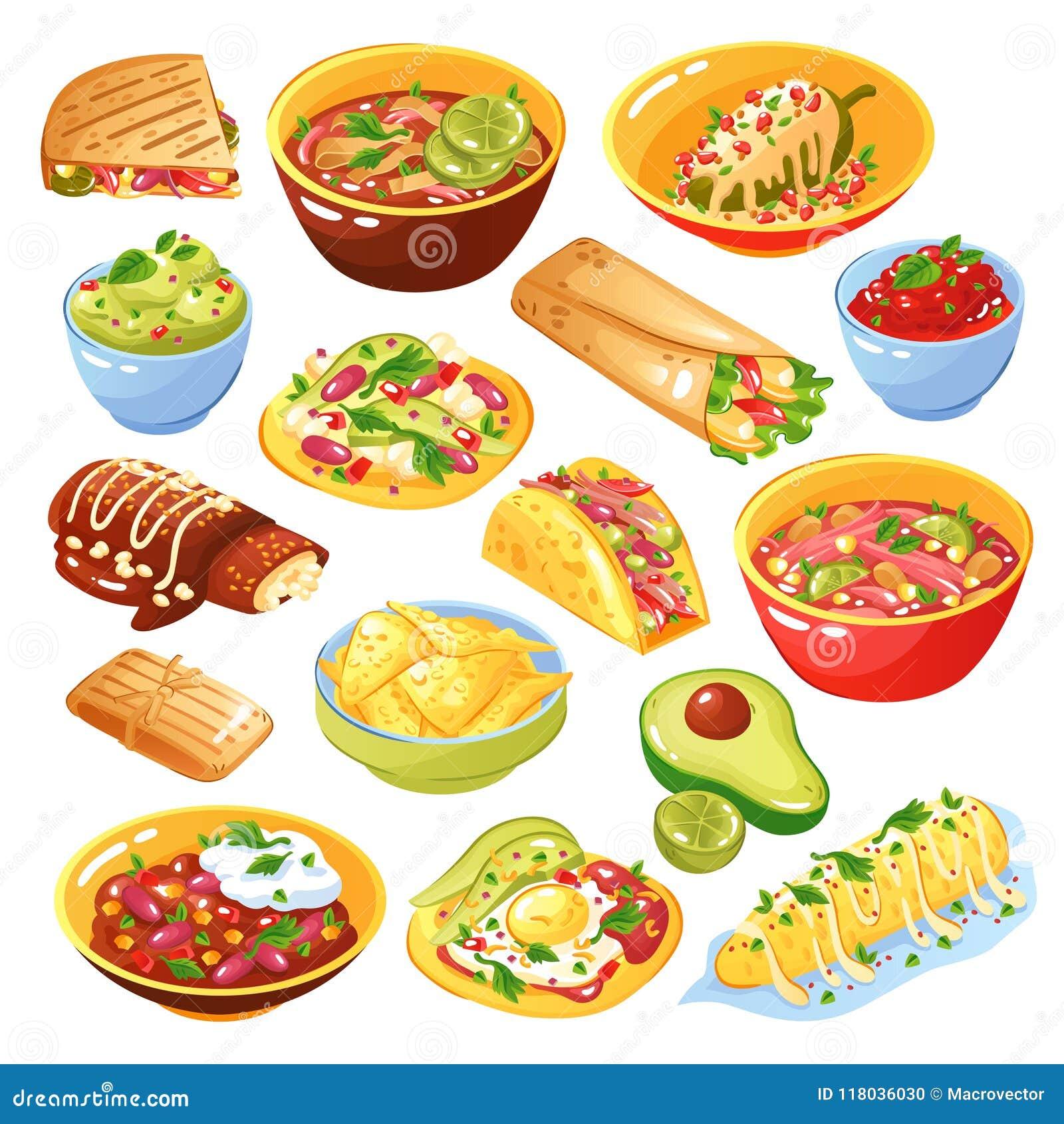 Meksykański jedzenie set