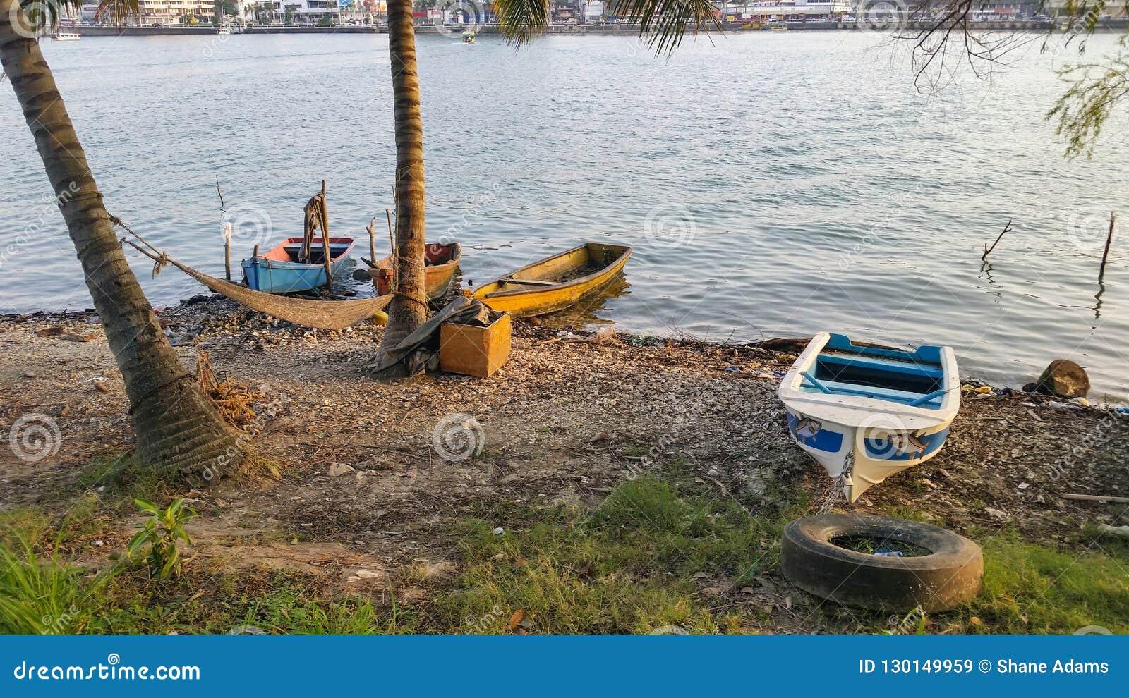 Meksykańskie łodzie rybackie