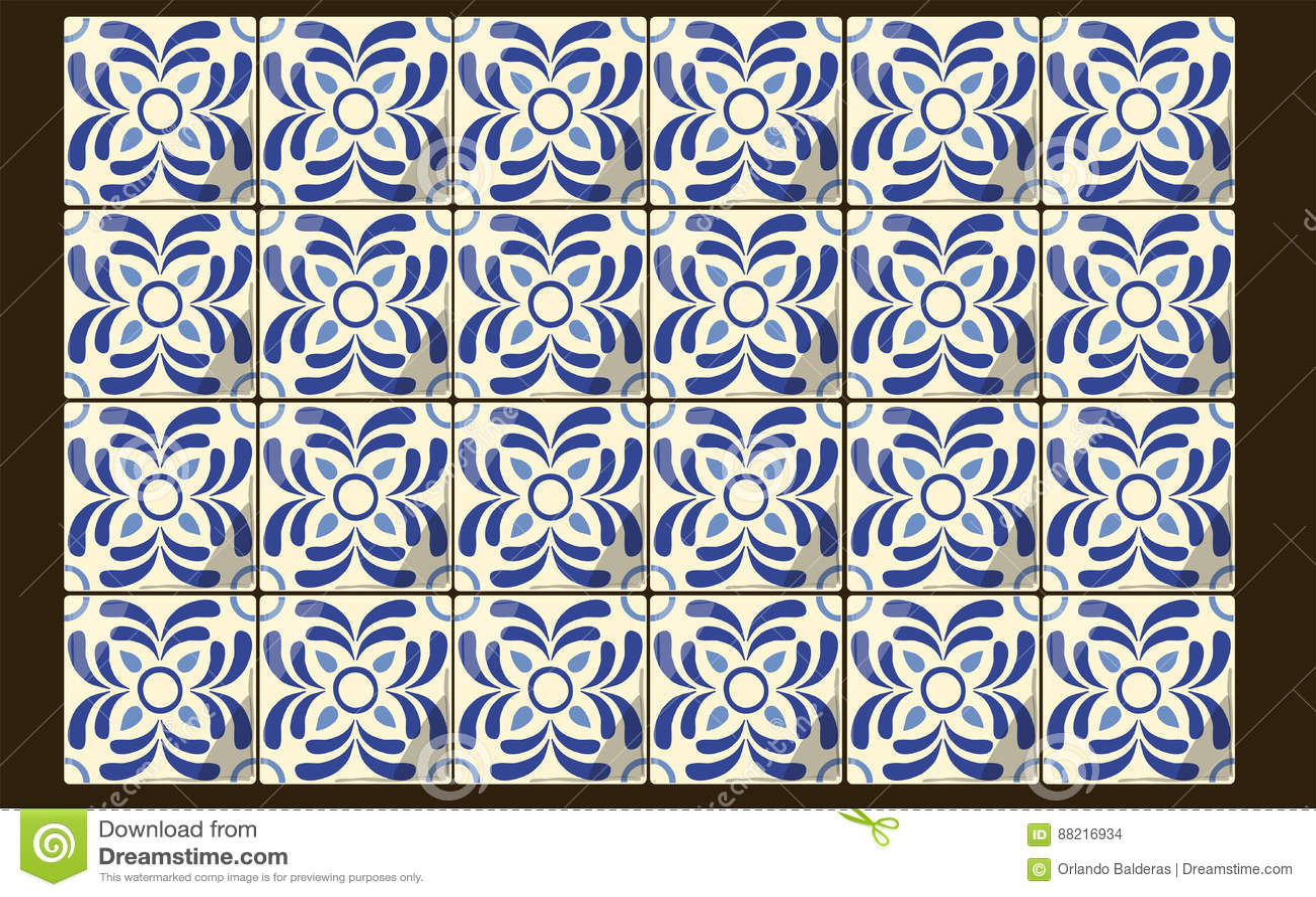 Meksykańskie błękit płytki