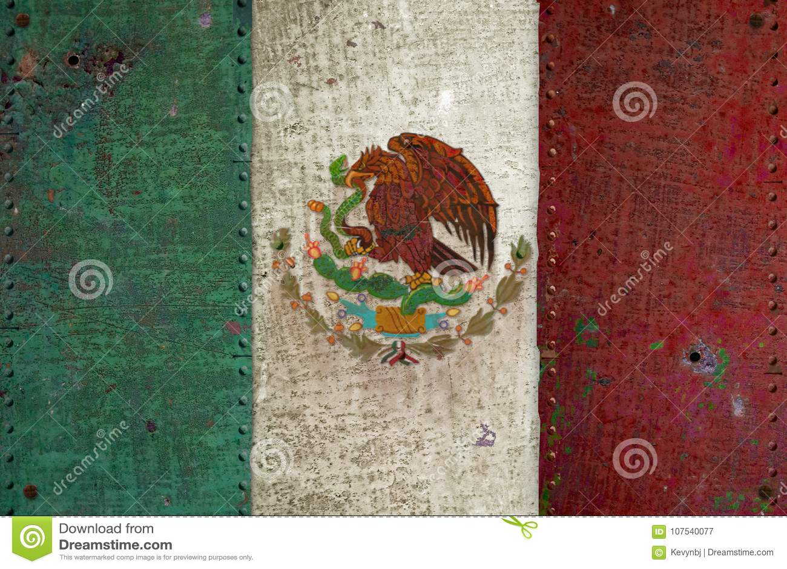 Meksykańskiej flaga Retro Grunge