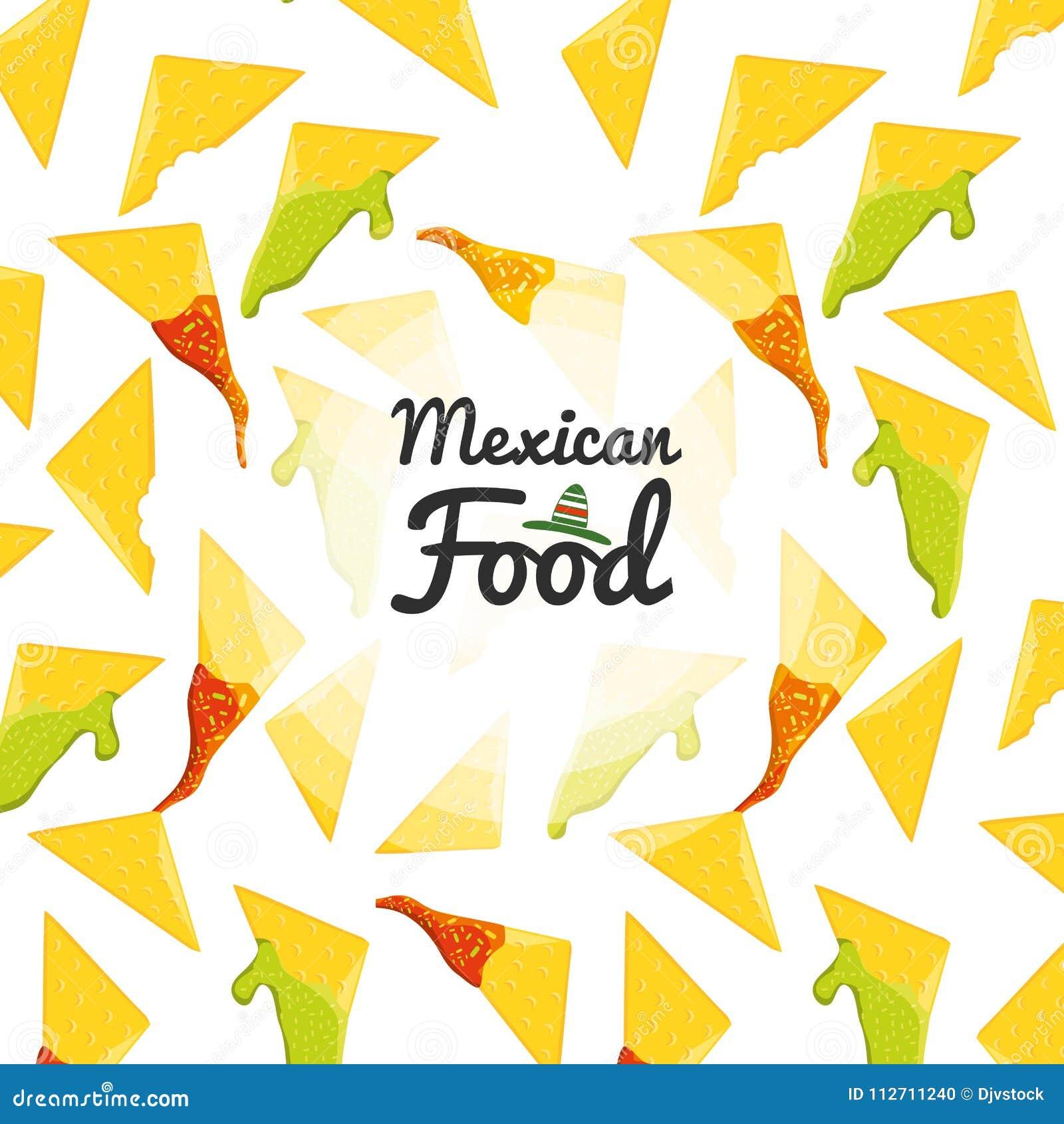 Meksykańskiej karmowej kuchni bezszwowy wzór