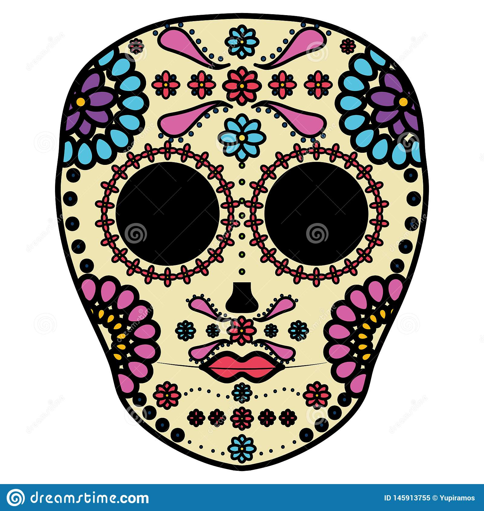 Meksyka?skiej czaszki ?miertelna maska